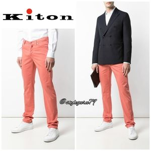 NWT, KITON, Slim Fit Salmon Button Fly Jeans
